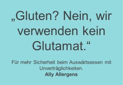 Postkarte - Messe - Gluten Glutamat